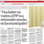 """""""Va a haber un vuelco, el PP va a retroceder mucho en las municipales"""" entrevista @lavozdealmeria a @sanchezteruel http://t.co/87hKzqG7Oy"""