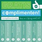 Vandaag is het #complimentendag! Hierbij gratis complimenten van @cdavandaag. Printen, ophangen en uitdelen maar! http://t.co/XrQyFwPu22