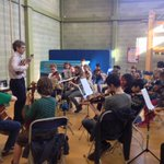The lovely Trevor B with the #Nottingham Training Orchestra Strings, amazing workshop today! http://t.co/icuAfLSulY