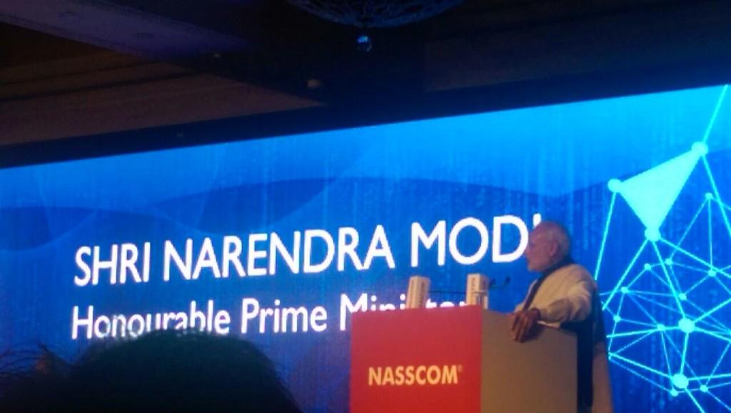 Honoured to have @narendramodi @PMOIndia at @nasscom's 25 year celebration launch the #Innovate #India Initiative http://t.co/r2eLwciCla