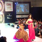 #indiakidsfashionweek these little bundles of joy on Ramp.... one little princess with me ...wat a joy to b here