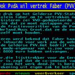 Ook PvdA wil vertrek Faber (PVV) http://t.co/pCGvqcjzTd