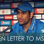 Read an open letter from an ardent fan to the Indian captain MS Dhoni!- http://t.co/Z0FzH7EhHX #CWC15 @BCCI @msdhoni http://t.co/EHQwuj8TIN
