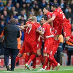 PHOTO: #LFC celebrating that stunning strike from @JHenderson http://t.co/NLyZ1h48cp