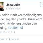 Ik nomineer @lalalalinder voor het versturen van de domste tweet in 2015 #Buitenhof #hooligans #Jihadisten http://t.co/slctzNVbk2