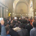 """@M7mod_Blal: المحامون الآن في بهو من دار القضاء العالي، والهتافات تدوي ضد الداخلية والنائب العام http://t.co/l2xfl1se8y"""