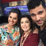 RT @TheFarahKhan: Look who came to #FarahkiDawaat today ..@MirzaSania n @YUVSTRONG12  KPL (kitchen premier league)at its best!! http://t.co…