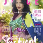 RT @ShrutiH_FC: Here it is! Queen @shrutihaasan looking absolutely ravishing on the cover of 'The Juice!! We're in love with her look http:…