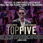Written & directed by the awesome @chrisrock co-starring with @rosariodawson, here's your UK quad for #TopFiveMovie