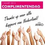 Thumbs up voor alle kappers van Nederland #complimentendag http://t.co/j6Xm56pPLc