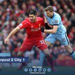 FULL-TIME: Its all over at Anfield and City fall to a 2-1 defeat. Report and reaction to follow... #lfcvcity #mcfc http://t.co/23Q6OG8HfU