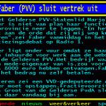 Faber (PVV) sluit vertrek uit http://t.co/rVof7ZhXg0