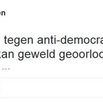 Medewerker universiteit Tilburg praat geweld tegen democratie goed en roept op tot geweld tegen PVV http://t.co/Y8ZW1USeOr