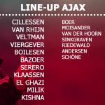 Line-up #Ajax | Geen wijzigingen ten opzichte van #legaja. De Boer kiest voor dezelfde 11 namen. #psvaja http://t.co/kb3XJ8FDeL