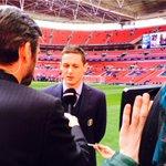 Nemanja Matic giving a quick TV interview a short while ago... #CFCWembley http://t.co/QJE8eiGNCQ