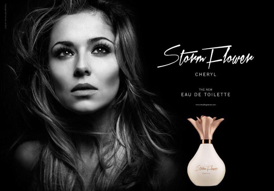 Cheryl's new StormFlower EDT releases tomorrow! £100,000 from sales will be donated to #CherylsTrust. http://t.co/dePqyVqi58