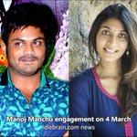 RT @idlebraindotcom: Manoj Manchu engagement with Pranathi on 4 March http://t.co/CXkU1xDxTz