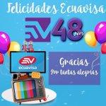 Felicidades @Ecuavisa por los 48 años de hacer la mejor televisión en el Ecuador. Gracias por abrirme las puertas. http://t.co/LEAIaMbIP4