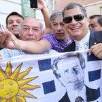 Rafael Correa, tras asistir al traspaso de mando presidencial entre José Mujica y Tabaré Vázquez, http://t.co/asN0K0v0Bx