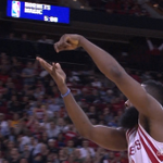 James Hardens cooking! Hes got the last 11 pts for Houston http://t.co/WzVJxakUbp