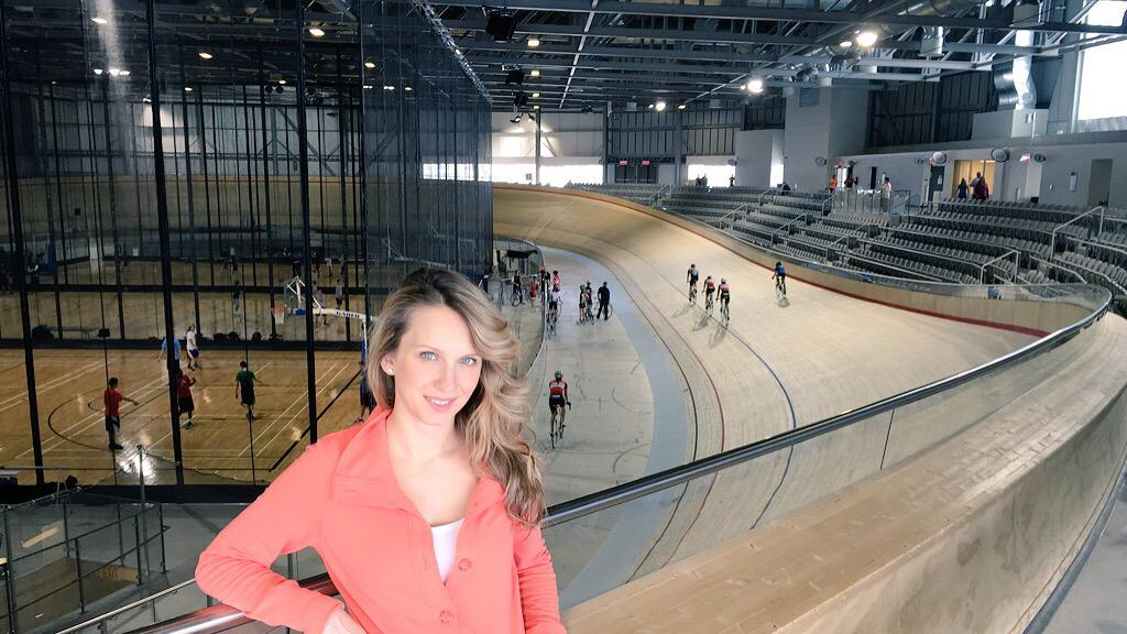 Checking out the @MattamyVelo in Milton. You can already feel the energy of the @TO2015 Pan Am Games. http://t.co/C09Tc4XiNE