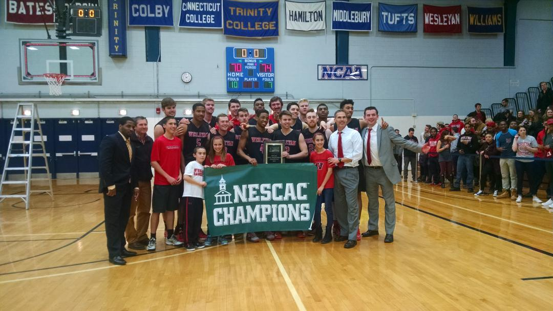 Congratulations to the 2015 #NESCAC Men's Basketball Champion - Wesleyan http://t.co/s4bkDZIi22