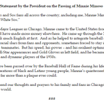 White Sox fan-in-chief Obama with a statement on the passing of Minnie Minoso: http://t.co/JEJXmf0D66