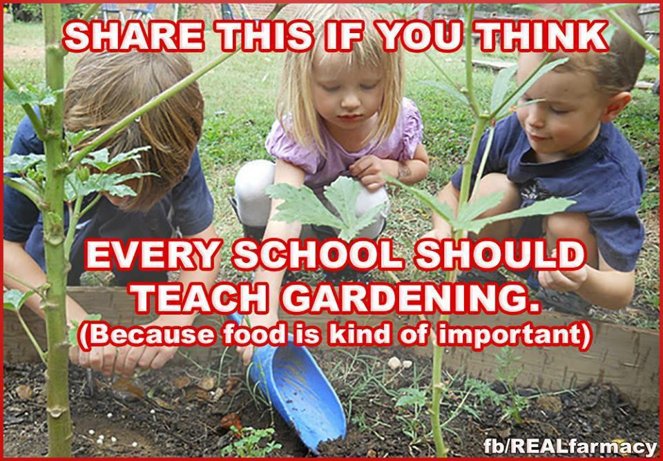 Agreed. RT @DaniNierenberg: RT this if you think every school should teach gardening! http://t.co/tAaZlnab9A