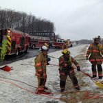 More...ICC slope evacuation of injured persons involved in rollover event, #mcfrs crews dealt w/ icy conditions http://t.co/A6uP3h1Pk9