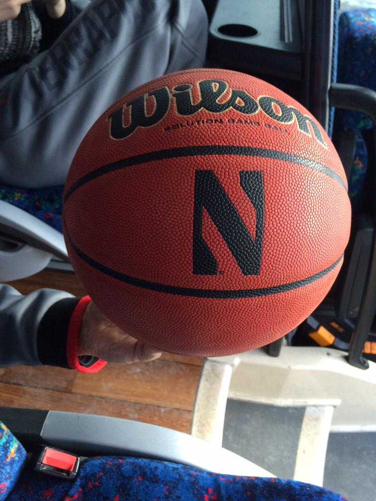 Very nice gesture by Northwestern giving us the game ball from today's win that capped an 18-0 @BTNWomensHoops season http://t.co/Vi3pD8Smp6
