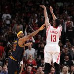 ROCKETS WIN in OT!! James Harden outduels LeBron James in a battle of MVP candidates. James: 37 pts Harden: 33 pts http://t.co/eGUgIroNdX