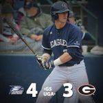 Eagles Sweep! Eagles Sweep! Georgia Southern a 4-3 winner in game three and takes all three games from #18 Georgia. http://t.co/JwOp0RKHAQ