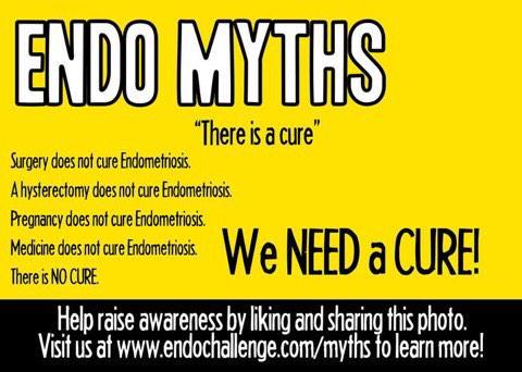 #EndometriosisAwarenessWeek Please share & RT!! #EndoMyths #EndoAwarenessMonth2015 #endometriosis http://t.co/E3uVEmR6Z1