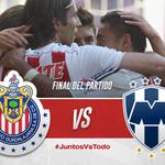 Marcador final: Chivas 3-0 Monterrey. ¡Gracias por el increíble apoyo afición! #JuntosVsTodo http://t.co/JfFNQex5Uz