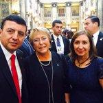 @dorissoliz y Sec. G. del PSE saluda a Psdta. #MichelleBachelet, en posesión de Presidente Tabaré Vásquez http://t.co/wi3G2k77aC