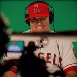 """""""@Angels: All 😁 for the MVPs green screen session. #LAASpring http://t.co/GgdUzdY7xE"""" babe"""