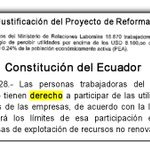 @MinTrabajoEc @ecuavisa @Gamanoticiasec @CarlosMarxC Respeten derechos trabajadores privados #NoAlTechoEnUtilidades http://t.co/ftqI6NUCvv