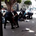 RT @mattdpearce: DRAMATIC video of LAPD killing a man today in skid row: http://t.co/pfCAZGgFnA http://t.co/FTaimteYO6