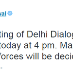#Delhi CM @ArvindKejriwal to hold first meeting of Delhi Dialogue Commission at 4 pm today http://t.co/zowzNLiaJD
