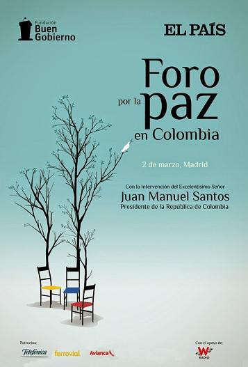Empieza el Foro por la Paz en Colombia de @el_pais. Mira los ponentes http://t.co/i5bATT0QQU y síguelo #ForoPazELPAIS http://t.co/k9Kvq7yV5H