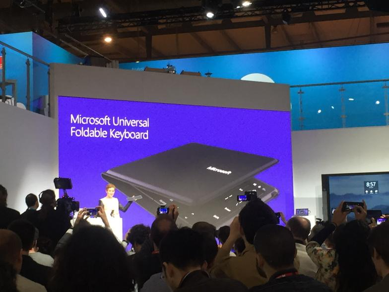This is interesting - a new foldable keyboard that you can use across devices. #mwc15 #connectsmwc http://t.co/ejYiMOcDZI