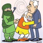 ":-)""@MANJULtoons: CM Mufti Mohammad Sayeed credits Pakistan, militant outfits for peaceful polls in J&K. My #cartoon http://t.co/wO2jPJVv0x"""