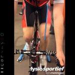 Collega Dannie Snijder begon de dag met een fietsafstelling. #fysiotherapie #wielrennen @CoachsEye @NVFSSportfysio http://t.co/XCrEcyqAY2