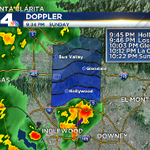 Get ready! More heavy rain, hail, wind gusts and lightning moving north into LA & the valley. #cawx http://t.co/aU3Ot9QINU