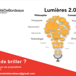 RT weickmann: #TEDx université de #Bordeaux : Lumières 2.0 http://t.co/n3RLmyUuo3 http://t.co/5yrib3Wvrj http://t.co/Qc1S772MfQ www.W…