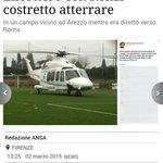 Elicottero Renzi #atterraggio emergenza! Causa: troppi occupanti. A bordo Renzi e il suo #ego moltiplicato per dieci http://t.co/tutEa500Ca