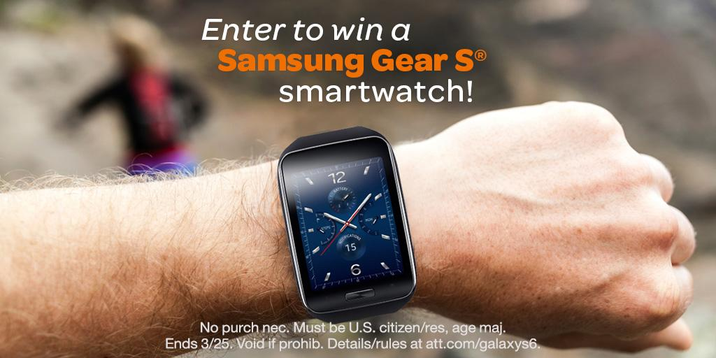 Meet the Samsung Galaxy S6 & enter to win a Gear S companion smartwatch! Details: http://t.co/9BbpR90UHO #ATTWinGear http://t.co/nItu9ouy8n