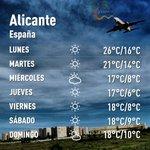 Previsión del tiempo en #Alicante #costablanca #provinciadealicante #comunidadvalenciana #marzo 😃😃😃 http://t.co/q5qkYgtCbQ