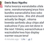 This is what a friend had to say about @SafaricomLtd daily bundles expiring at midnight. #LEGIT http://t.co/q0To01NnpD