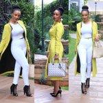 The beautiful @FAWWIEOFFICIAL wearing a #Kooroo Yellow Coat Dress. She was born to rock it! #kenya #StyleMondays http://t.co/8H97yR1k5s
